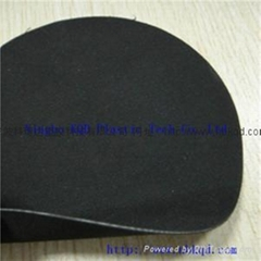double the fabric of black neoprene mesh cloth