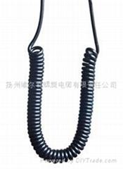 小型汽车设备专用弹簧电缆