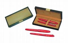 中国红瓷笔