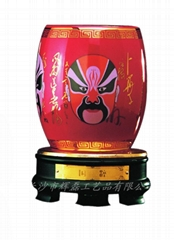 中国红瓷国粹旋转笔筒