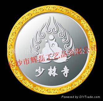 纯银镶金纪念章 4