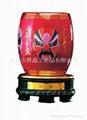 中国红瓷国粹旋转笔筒 5