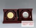 純銀鑲金紀念章