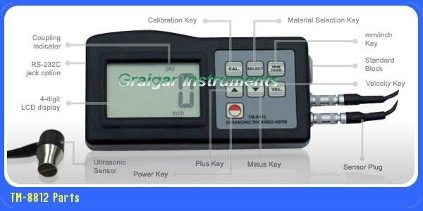 Ultrasonic Thickness Meter TM-8812 2