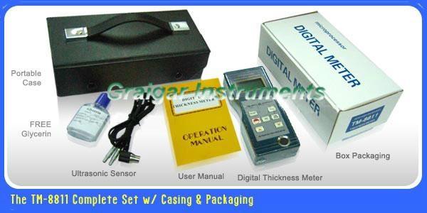 Ultrasonic Thickness Meter TM-8811 2