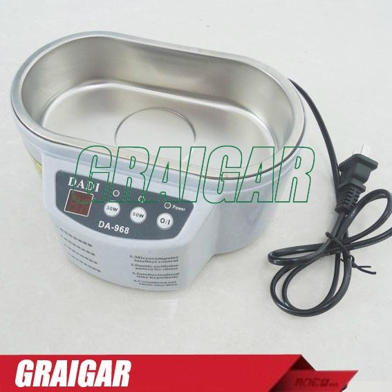 DADI DA-968 220V or 110V Stainless Steel Dual 30W/50W Ultrasonic Cleaner  1