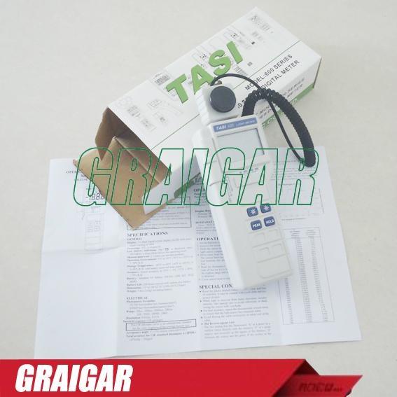 TASI-630 Digital Light Meter Luxmeter LCD Backlight PEAK-HOLD 50mS pulse light a 1