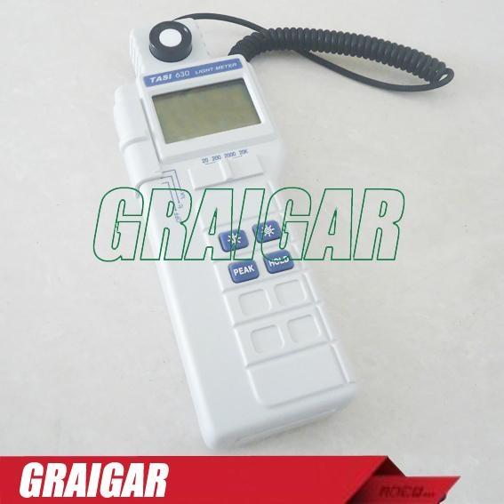 TASI-630 Digital Light Meter Luxmeter LCD Backlight PEAK-HOLD 50mS pulse light a 2