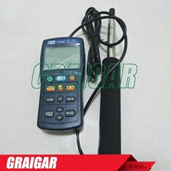 TES-1340 Hot-Wire Digital Anemometer Air Wind Flow Meter