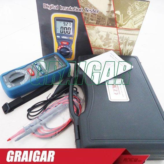 CEM DT-5500 Digital Insulation Tester Megger MegOhmMeter CAT III 1000V, 2000 Meg 4