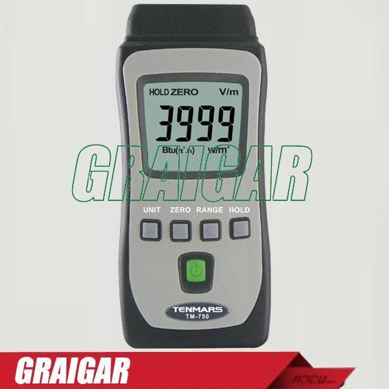 3-3/4 digits LCD TM-750 Mini pocket Solar Power Meter 1