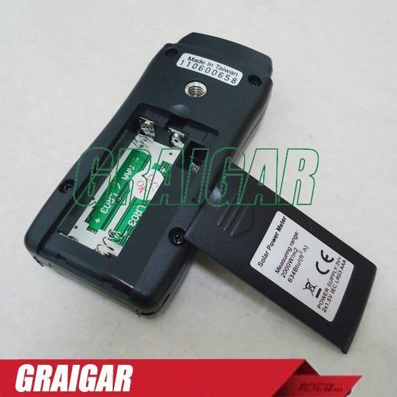 3-3/4 digits LCD TM-750 Mini pocket Solar Power Meter 2