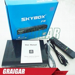 Satellite TV Receiver Upgrade SKYBOX F6 HD full 1080p PVR support usb wifi