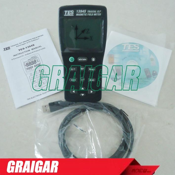 TES-1394S EMF Tester ElectroMagnetic Field Tester with RS-232 4