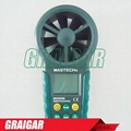 0.4-30m/s, Temp.(-20-60C),Humidity-0-100%RH,Digital Anemometer MS6252B