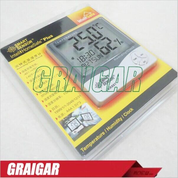 Smart Sensor AR807 Digital Hygrometer Thermometer With Calendar & Clock Alarm Ba 3