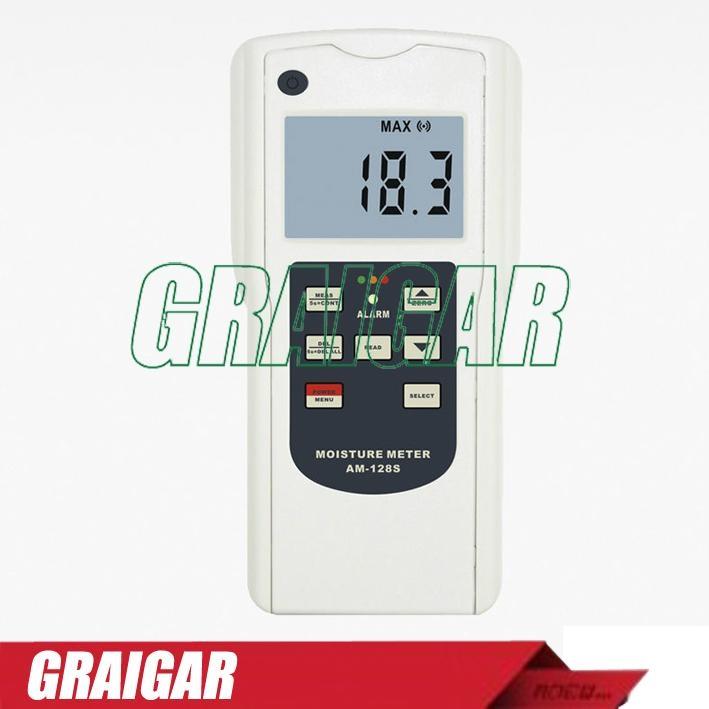 Moisture Tester Meter Gauge AM-128S 1