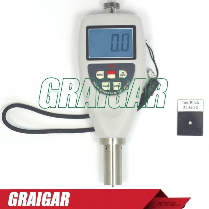AS-120B Portable Shore Hardness Tester For Hard Rubber With LCD Display 1