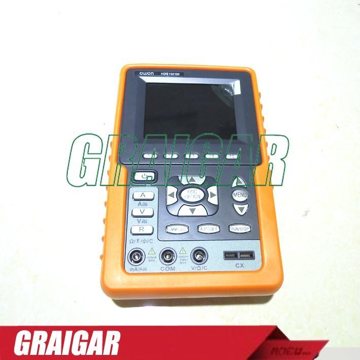 HDS1021M 20MHz 100MS/s 2 Channels Multimeter Mini Handheld Digital Oscilloscope 5