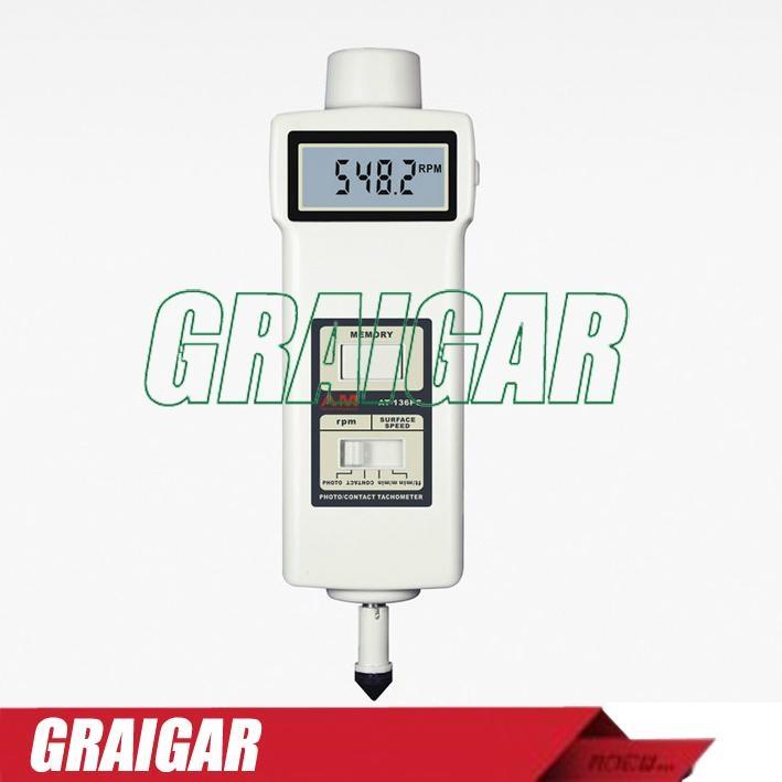 AT-136PC Digital Hand Held Tachometer For Rotative Velocity 1