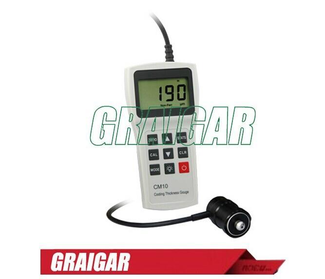 CM10FH Coating Thickness Gauge Meter Tester 0-10000um 1