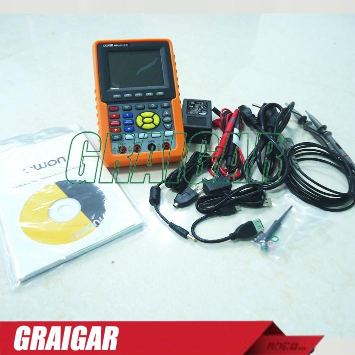 "New OWON HDS1022M-N Handheld 3.8"" Dual Storage Oscilloscope+Multimeter 20MHz 4"