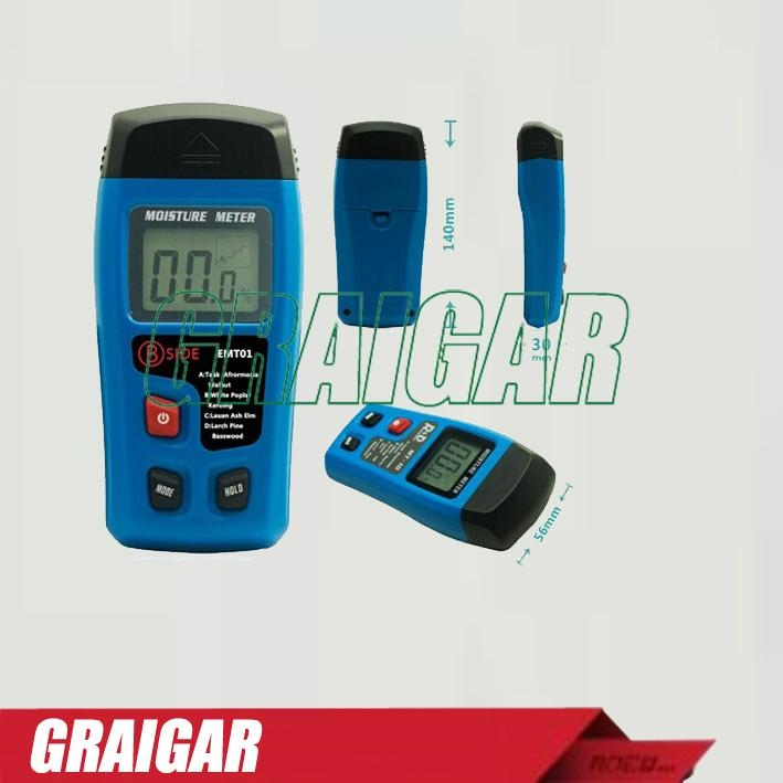 EMT01 Portable Digital Timber Wood Moisture Meter 0~99.9% LCD Display Data Hold 1
