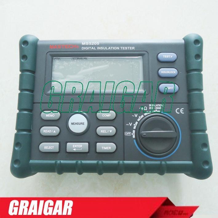 MS5205 Digital Insulation Tester Megger MegOhm Meter DC250/500/1000/2500V AC750V 1