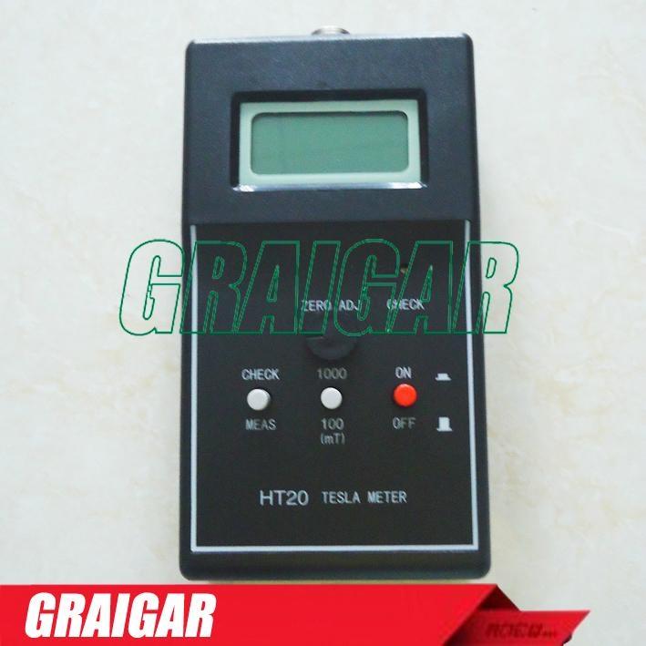HT20 Tesla/ gauss /Digital Magnetic Flux meter DC 2000mT 1
