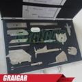 Weld gauge Stainless steel welding measure gauge kits combine suit 13 piece  2
