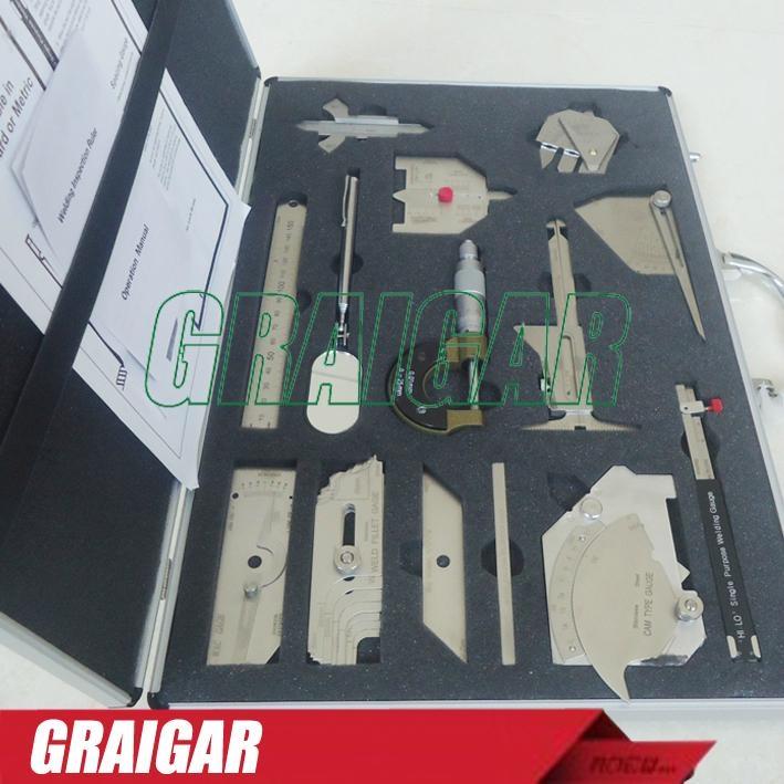 Weld gauge Stainless steel welding measure gauge kits combine suit 13 piece  3