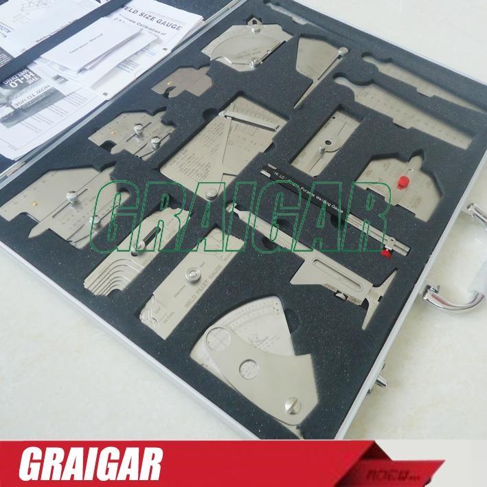 Precise 16 pieces welding measure tools combined suit Welding measure gauge kit  2