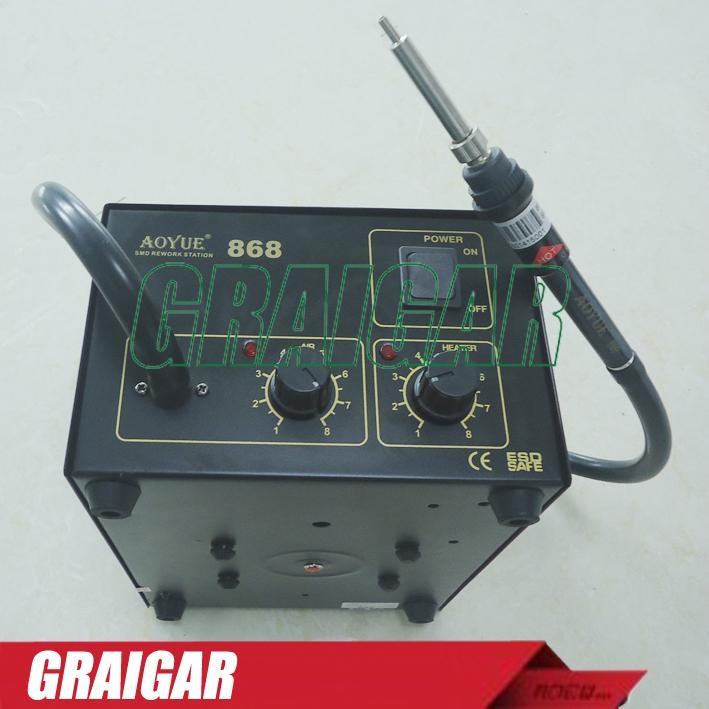 Solder Station 220V AOYUE 868 Repairing System Hot Air SMD Soldering Iron 1