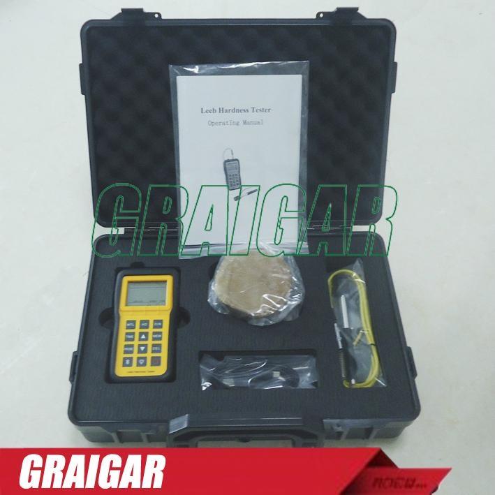 Portable digital Leeb Hardness Tester meter metal durometer LM100 5