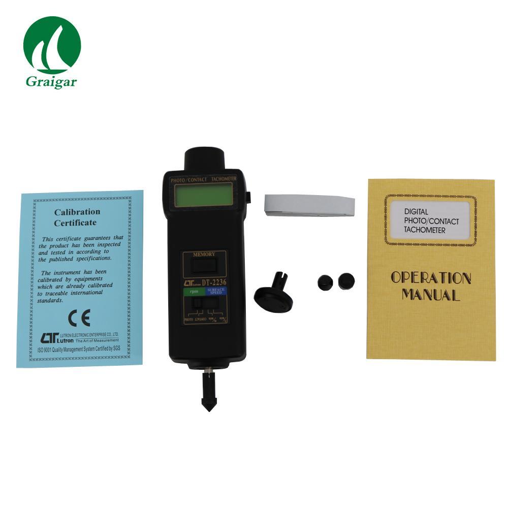 DT-2236 Tachometer Rotative Velocity Tester 2.5~99,999r/min 7