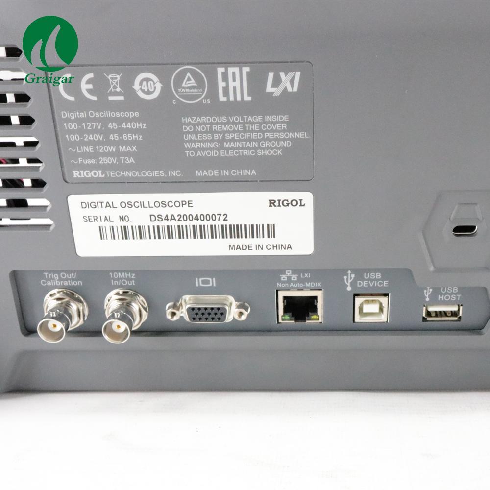 DS4024 200MHz Digital Oscilloscope 4 Analog Channels 200MHz Bandwidth 9