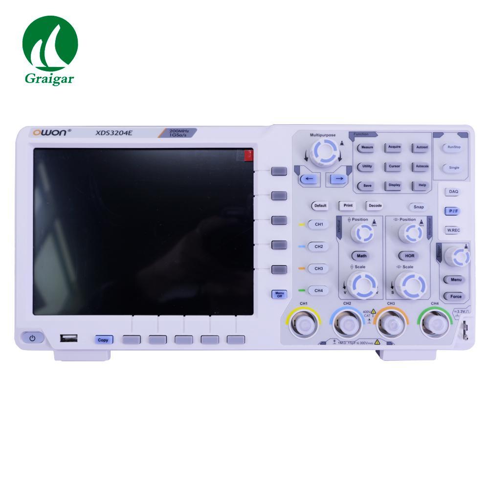 XDS3204E Touchscreen Digital Oscilloscope Bandwidth 200MHz Sample Rate 1GS/s 6