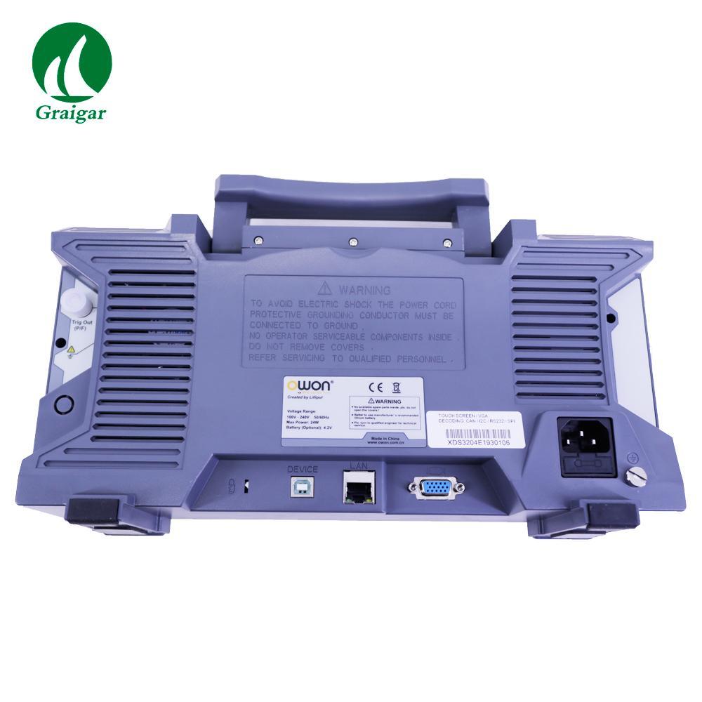 XDS3204E Touchscreen Digital Oscilloscope Bandwidth 200MHz Sample Rate 1GS/s 7