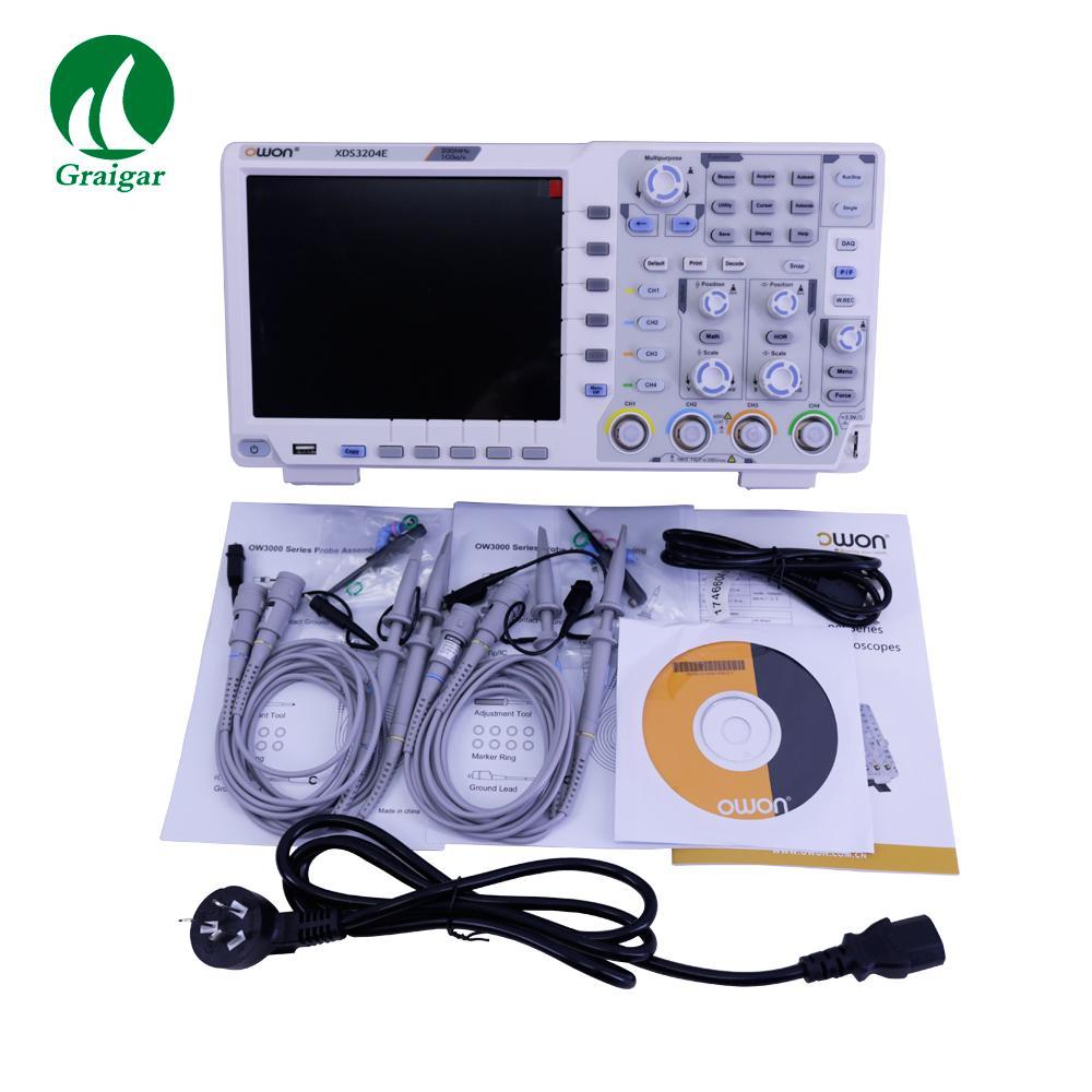 XDS3204E Touchscreen Digital Oscilloscope Bandwidth 200MHz Sample Rate 1GS/s 1