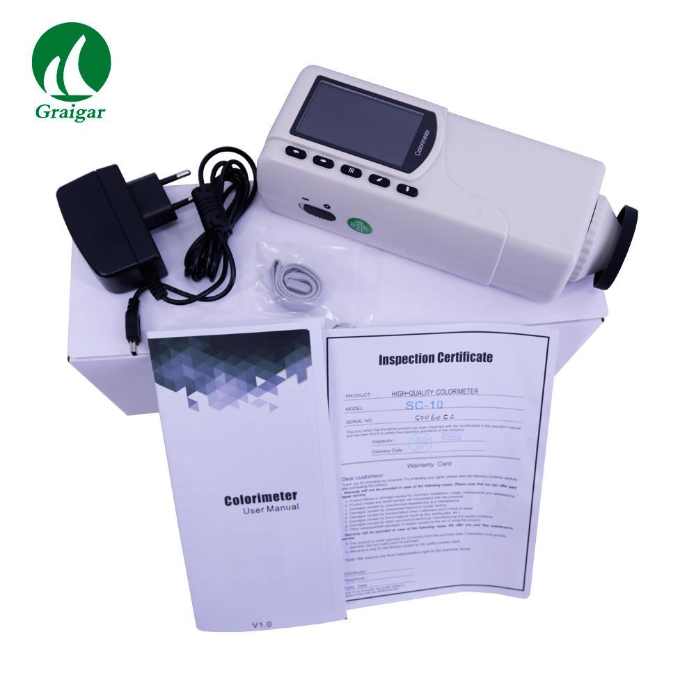 SC-10 Portable Colorimeter Difference Meter 4mm Measuring Diameter 4