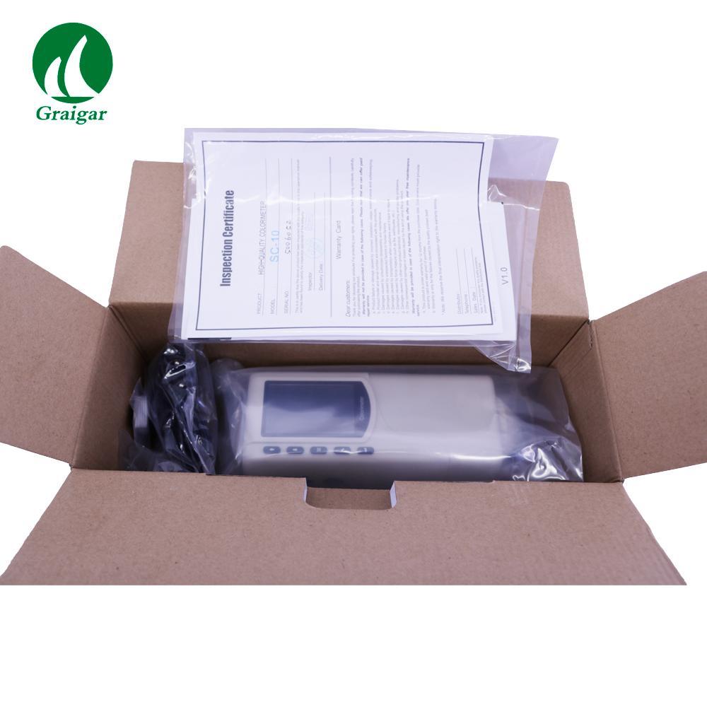 SC-10 Portable Colorimeter Difference Meter 4mm Measuring Diameter 12