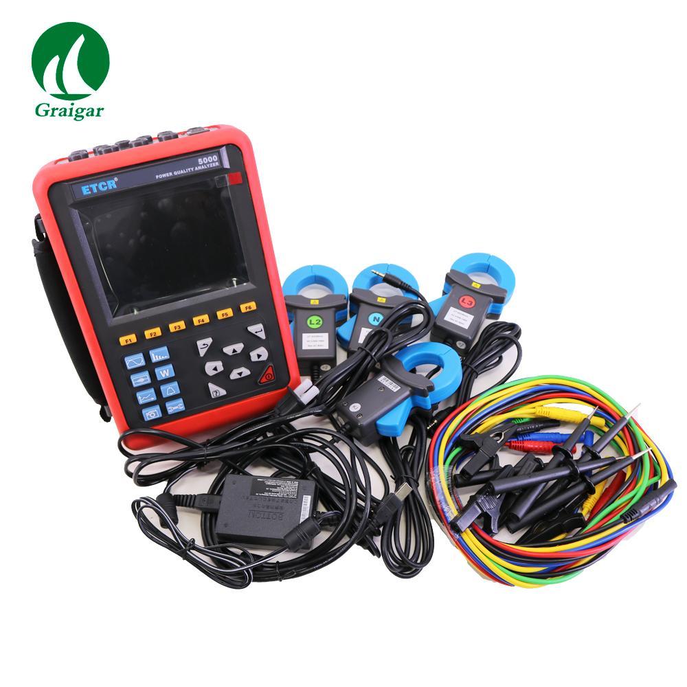 ETCR5000 Power Quality Analyzer 3 Phase Multi-functional Power Quality Monitor 2
