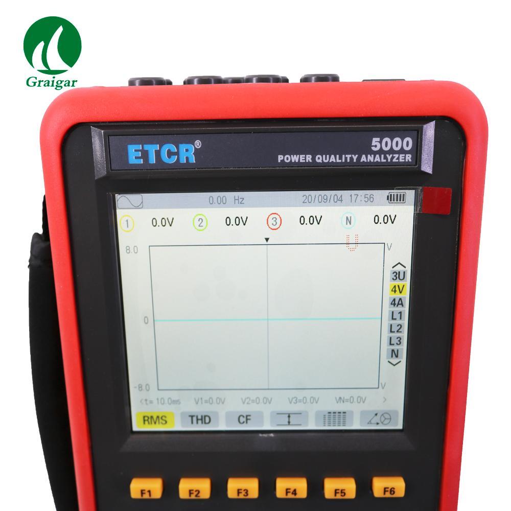ETCR5000 Power Quality Analyzer 3 Phase Multi-functional Power Quality Monitor 8