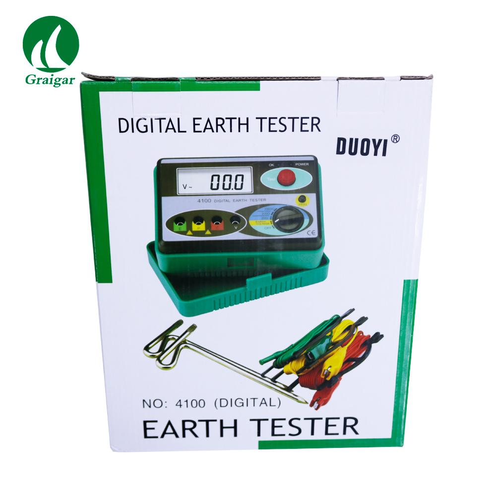 DY4100 Digital Earth Tester Ground Resistance Tester 0/20/200/2000OHM 13