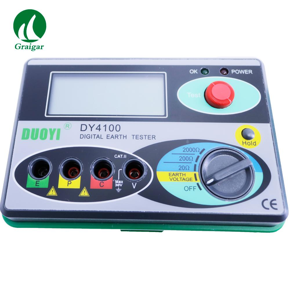DY4100 Digital Earth Tester Ground Resistance Tester 0/20/200/2000OHM 3