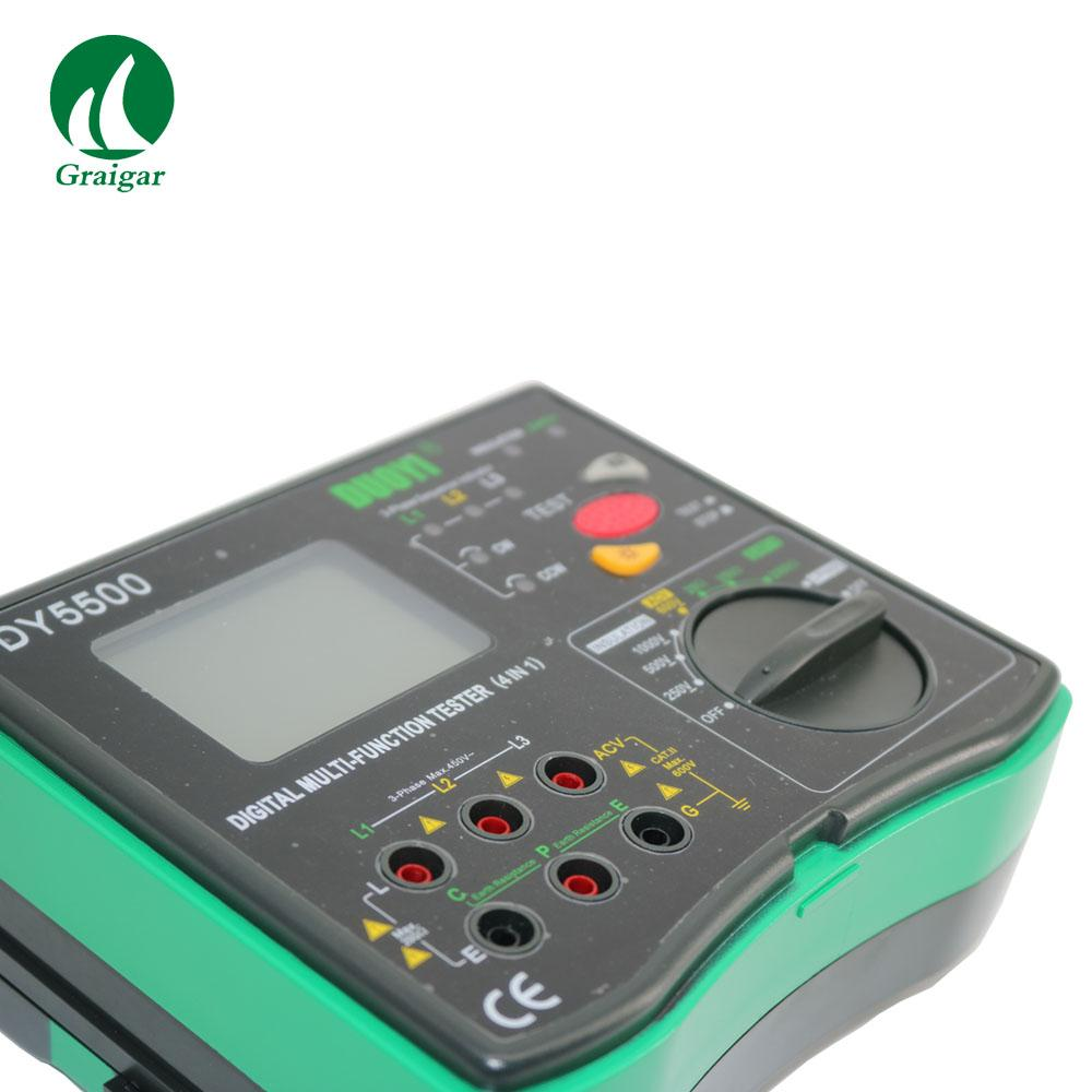 DY5500 Multi Function Tester 2000 Mohms Earth Resistance Tester 4