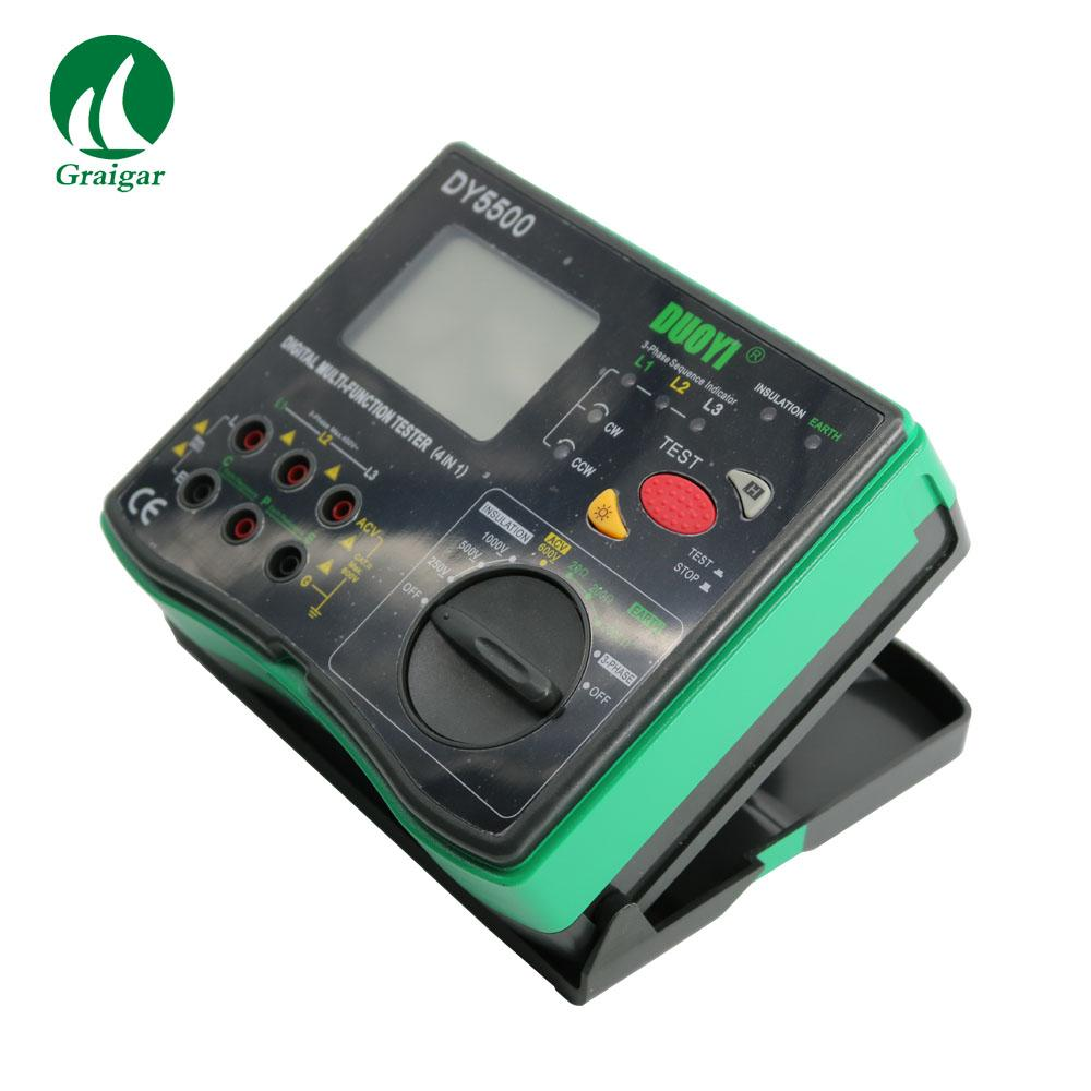 DY5500 Multi Function Tester 2000 Mohms Earth Resistance Tester 7