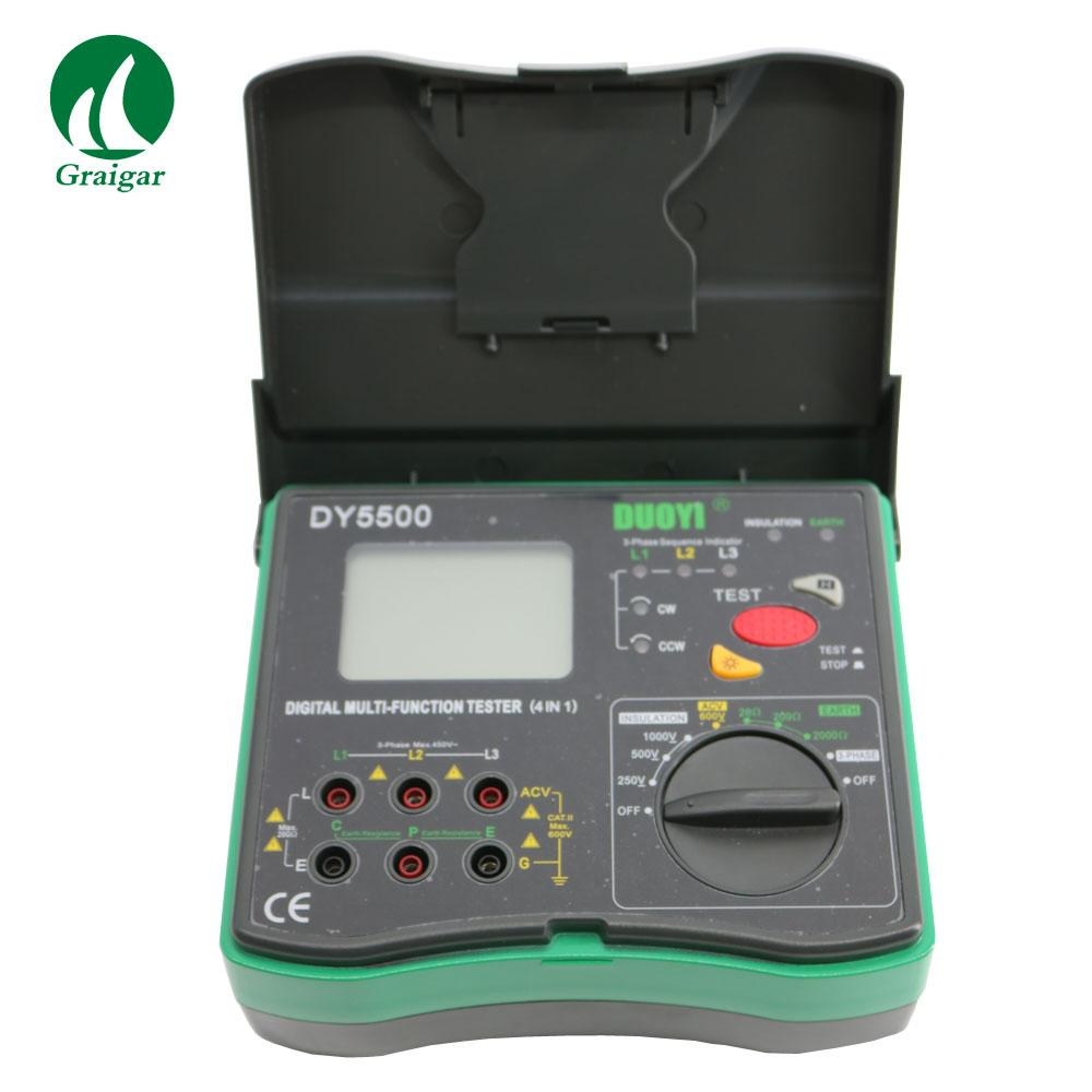 DY5500 Multi Function Tester 2000 Mohms Earth Resistance Tester 1