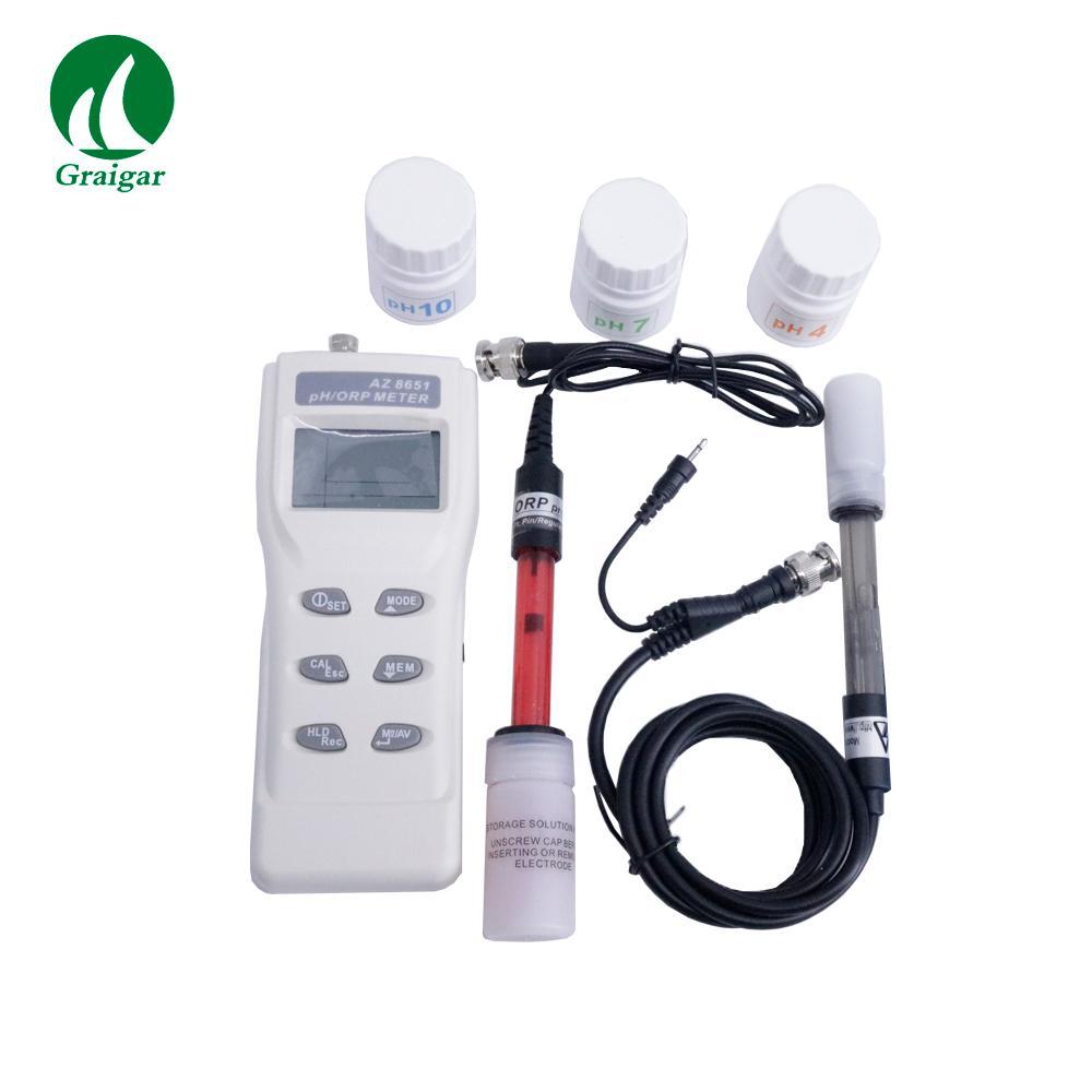 AZ8651 Handheld PH Meters PH Tester Digital ORP Meter Range PH: 0.00 ~ 14.00 6