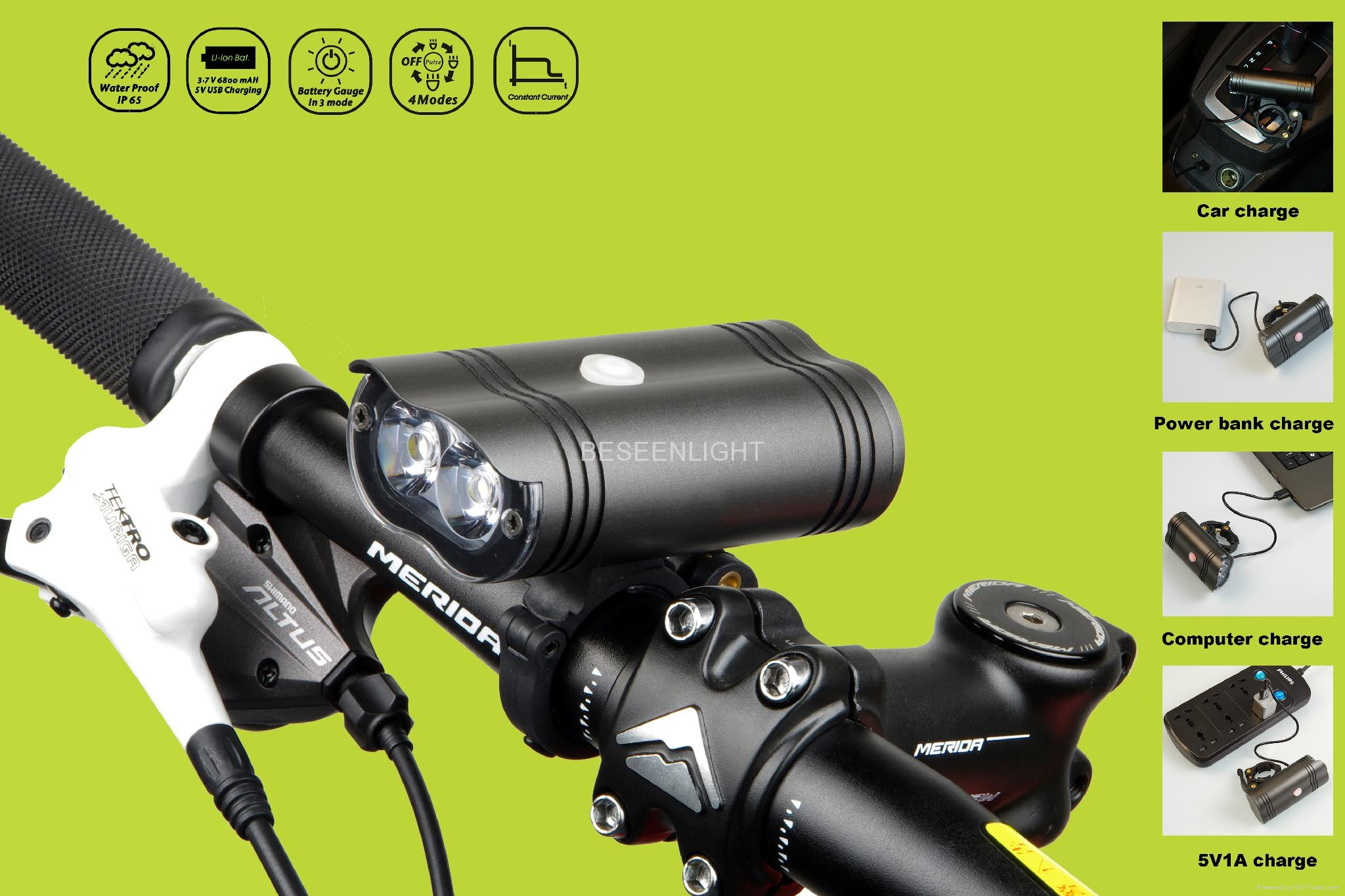 Pro road cycle light 1250lm USB charger 5